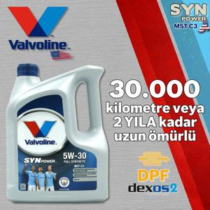 Valvoline Synpower Mst C3 5w30 Partiküllü Dpfli Full Sentetik Motor Yağı 4 Litre UP1531344 VALVOLINE