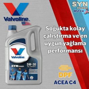 Valvoline Synpower Mst C4 5w30 Partiküllü Tam Sentetik Motor Yağı 5 Litre UP1534958 VALVOLINE
