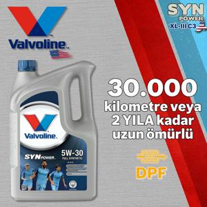 Valvoline Synpower Xl-iii C3 5w30 Dpfli Tam Sentetik Motor Yağı 4 Litre UP1531345 VALVOLINE