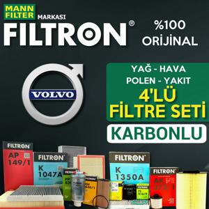 Volvo S40 1.6 D2 Filtron Filtre Bakım Seti (2010-2012) Euro5 UP1530963 FILTRON
