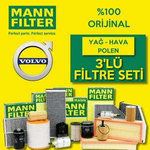 Volvo S60 1.6 Dizel Karbonlu Mann-filter Filtre Bakım Seti (2011-2015) UP463801 MANN