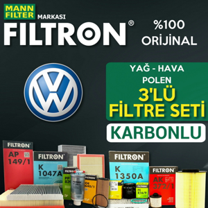 Vw Golf 5 1.4 Tsi Filtron Filtre Bakım Seti 2006-2009 Bmy UP1319615 FILTRON