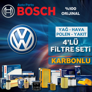 Vw Jetta 1.2 Tsi Bosch Karbonlu Filtre Bakım Seti 2011-2014 Cbz UP581623 BOSCH