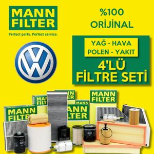 Vw Jetta 1.4 Tsı Mann-filter Filtre Bakım Seti (2011-2014) UP468496 MANN