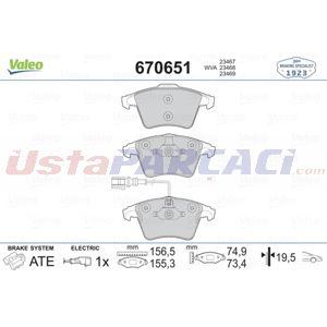 Vw Multivan V 2.0 Tdi 4motion 2003-2015 Valeo Ön Fren Balatası UP1464763 VALEO