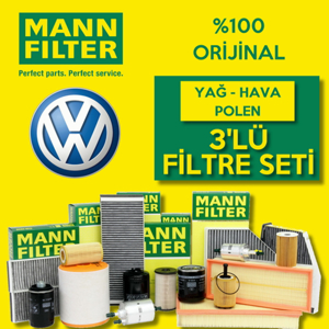 Vw Passat 1.6 Mann-filter Filtre Bakım Seti (2005-2010) UP463842 MANN