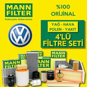 Vw Passat 1.6 Tdi Mann-filter Filtre Bakım Seti 2011-2014 UP1319457 MANN