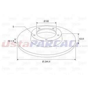 Vw Passat 1.9 Tdi 4motion 1996-2000 Valeo Arka Fren Diski UP1511932 VALEO