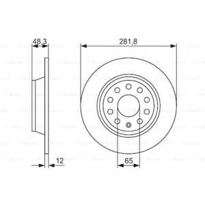 Vw Passat 1.6 Tdi 2009-2014 Bosch Arka Fren Diski 2 Adet UP585007 BOSCH