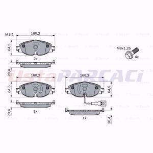 Vw Passat 2.0 Tdi 4motion 2014-2020 Bosch Ön Fren Balatası UP1554500 BOSCH