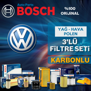 Vw Scirocco 1.4 Tsi Benzinli Bosch Filtre Bakım Seti 2015-2017 UP1539544 BOSCH