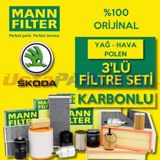 Skoda Superb 1.4 Tsi Mann-filter Filtre Bakım Seti (2015-2018) Czc,czd UP5607344 MANN