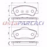 Peugeot 308 Ii 1.2 Vti 72 2013-2019 Bosch Ön Fren Balatası UP969199 BOSCH