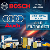 Audi A1 1.6 Tdi Bosch Filtre Bakım Seti 2011-2013 UP1313079 BOSCH