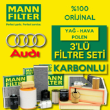 Audi A3 1.6 Mann-filter Filtre Bakım Seti (2004-2012) UP463770 MANN