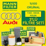 Audi A3 1.6 Tdi Mann-filter Filtre Bakım Seti (2009-2013) UP468509 MANN