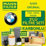 Bmw 1.18i F20/f21 Mann Filtre Bakım Seti 2012-2015 UP582974 MANN