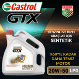 Castrol Gtx Lpg 20w-50 Sentetik Motor Yağı 4 Litre Ü.t.02/2020 UP1534777 CASTROL