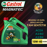 Castrol Magnatec 10w40 A3/b4 Tam Sentetik Motor Yağı 4 Litre Ü.t.02/2020 UP1534632 CASTROL