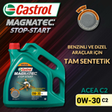 Castrol Magnatec Stop-start 0w30 C2 Tam Sentetik Motor Yağı 4 Litre Ü.t.07/2019 UP1534775 CASTROL