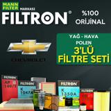 Chevrolet Kalos 1.2 Filtron Filtre Bakım Seti 2005-2008 UP1319444 FILTRON