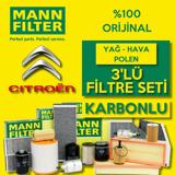 Citroen C3 1.6 Dizel Mann Filtre Bakım Seti 2016-sonrası UP1539671 MANN