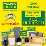 Citroen C4 1.4 Mann-filter Filtre Bakım Seti 2005-2013 UP1324655 MANN