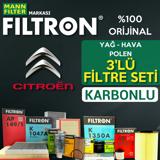 Citroen Ds3 1.6 Dizel Filtron Filtre Bakım Seti 2014-sonrası UP1539681 FILTRON