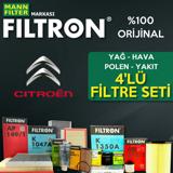 Citroen Nemo 1.4 Hdi Filtron Filtre Bakım Seti 2008-2014 UP1324624 FILTRON