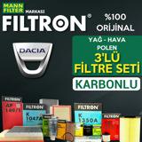 Dacia Sandero 1.5 Dci Mann Filtron Filtre Bakım Seti  2012-2018 UP1539612 FILTRON