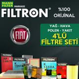 Fiat Albea 1.2 Filtron Filtre Bakım Seti 2002-2007 UP1324646 FILTRON