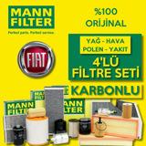 Fiat Doblo 1.3 1.6 Euro6 Mann Filtre Bakım Seti 2016-2020 UP1539575 MANN