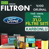 Ford B-max 1.4 1.6 Benzinli Mann Filtron Filtre Seti 2012-2018 UP1539528 FILTRON