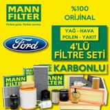 Ford Focus 1.5 Tdci Mann Filtre Bakım Seti 2015-2017 UP1539719 MANN
