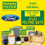 Ford Focus 1.6 Mann-filter Filtre Bakım Seti 1998-2004 UP1319508 MANN