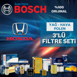 Honda Civic 1.6 Fb7 Bosch Filtre Bakım Seti (2013-2016) UP463692 BOSCH