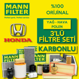 Honda Civic 1.6 Fb7 Mann-filter Karbonlu Filtre Bakım Seti 2013-2016 UP463751 MANN