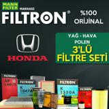 Honda Cr-v 2.0 Filtron Filtre Bakım Seti 2007-2013 R20 UP1324622 FILTRON