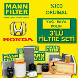 Honda Jazz 1.4 Mann-filter Filtre Bakım Seti 2009-2014 L13z UP1319504 MANN