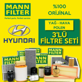 Hyundai Accent Blue 1.4 Cvvt Mann-filter Filtre Bakım Seti 2011-2016 UP1319469 MANN