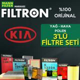 Kia Pro Ceed 1.6 Crdi Filtron Filtre Bakım Seti 2008-2013 UP1320003 FILTRON