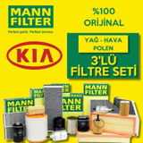 Kia Pro Ceed 1.6 Crdi Mann-filter Filtre Bakım Seti 2008-2013 UP1320004 MANN