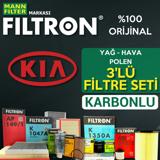 Kia Sportage 1.6 Gdi Filtron Filtre Bakım Seti 2010 - 2016 UP1539728 FILTRON