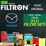Mazda 3 1.6 Mann Filtron Filtre Bakım Seti 2009-2013 UP1539569 FILTRON