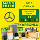 Mercedes C 200 D W205 Blutec Mann-filter Filtre Bakım Seti 2014-2018 UP1530583 MANN