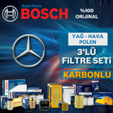 Mercedes E180 W212 Bosch Filtre Bakım Seti (2013-2016) UP582319 BOSCH