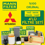 Mitsubishi Lancer 1.6 Mann-filter Filtre Bakım Seti (2004-2008) UP463788 MANN