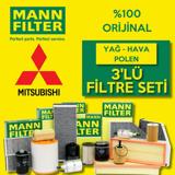 Mitsubishi Lancer 1.6 Mann-filter Filtre Bakım Seti (2004-2008) UP463789 MANN