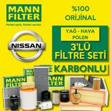 Nissan Juke 1.5 Dci Mann-filter Filtre Bakım Seti 2014-2019 UP1539929 MANN