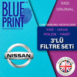 Nissan Juke 1.6 Blueprint Filtre Bakım Seti 2011 - 2018 UP568013 BLUEPRINT